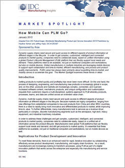 IDC Market Spotlight: How Mobile Can PLM Go?