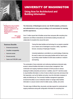 University of Washington: Using Aras for Architectural and Building Information